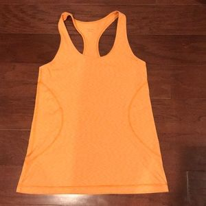 Orange heathered Zella racerback tank large L